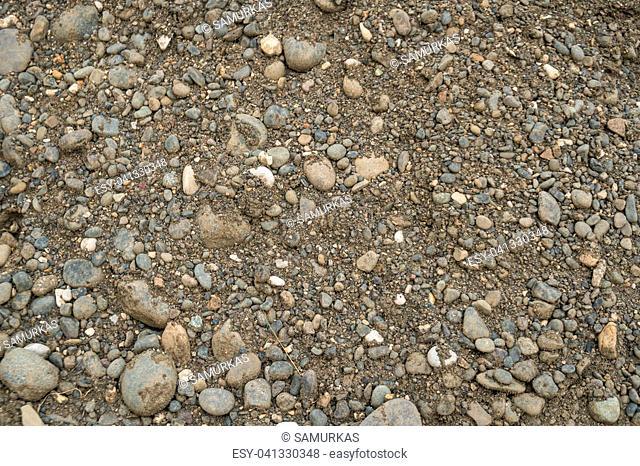 Gravel texture. Gravel background. Stones texture. Gravel for road