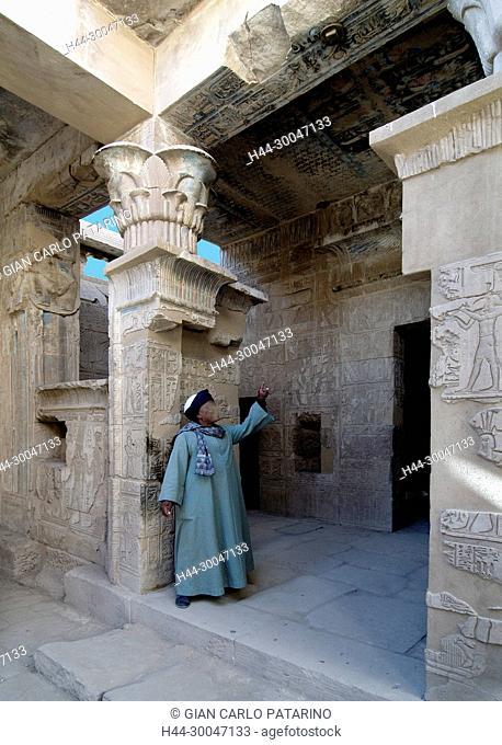 Luxor Egypt- Ptolemaic temple in Deir el Medina – Interior view