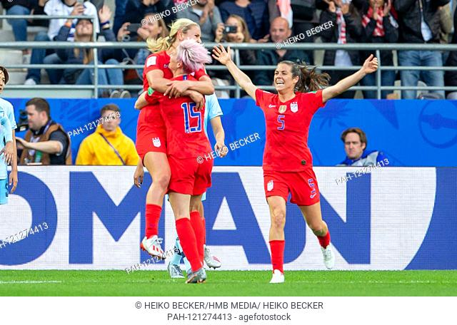 France, Reims, Stade Auguste-Delaune, 11.06.2019, Football - FIFA Women's World Cup - USA - Thailand Photo: lll goalkeeper Lindsey Horan (USA, # 9)