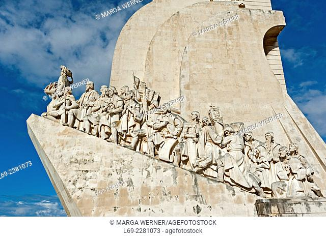Monument of Discoveries (1960) with Henry the Navigator on top, at river Tejo, Belém, Lisbon, Portugal, Europe