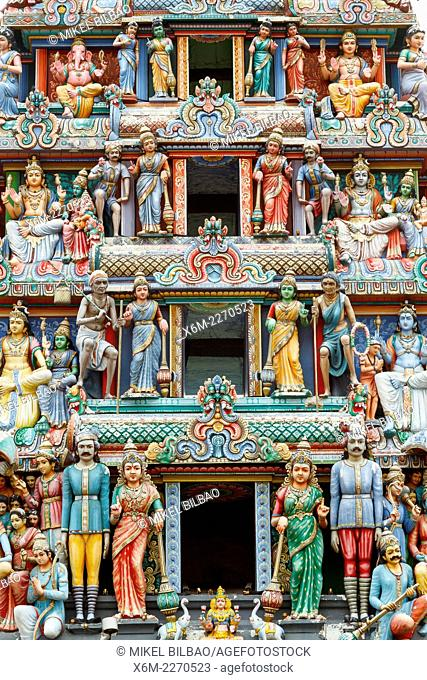Sri Mariamman hindu temple. Chinatown district. Singapore, Asia