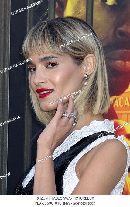 "Sofia Boutella 05/19/2018 The Los Angeles premiere of """"Hotel Artemis"""" held at the Regency Bruin Theatre in Los Angeles"