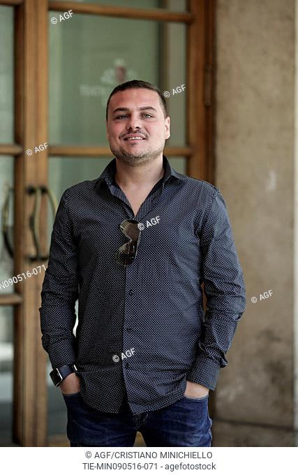 Vincenzo Pirozzi attends the photocall of the fiction Gomorrah 2, Rome, Italy 09/05/2016