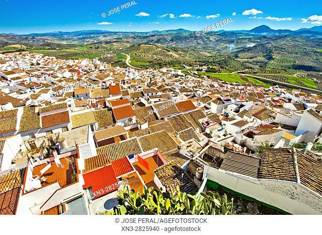 Olvera, White Towns, Pueblos Blancos, Sierra de Cádiz, Cadiz province, Andalusia, Spain, Europe