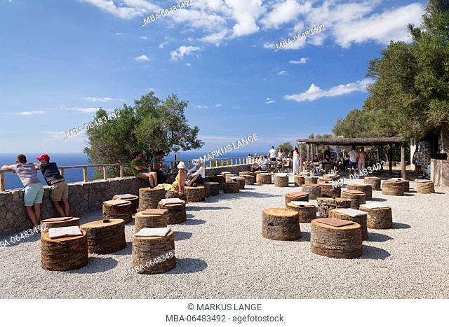 Cafe, bar in the country estate Son Marroig, Deia, Sierra de Tramuntana, Majorca, the Balearic Islands, Spain