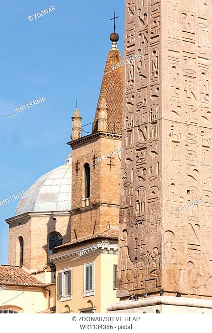 Egyptian Obelisk in Piazza del Popolo Rome