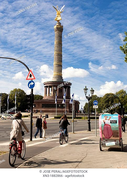 Siegessaeule, Victory Column, Berlin, Germany, Europe