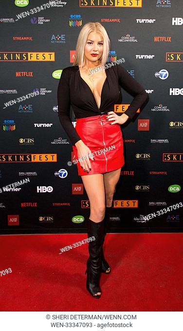 'Murder in the Woods' screening at LA Skins Fest 2017 held at the TCL Chinese Theater in Hollywood - Arrivals Featuring: Baylee Curran Where: Los Angeles
