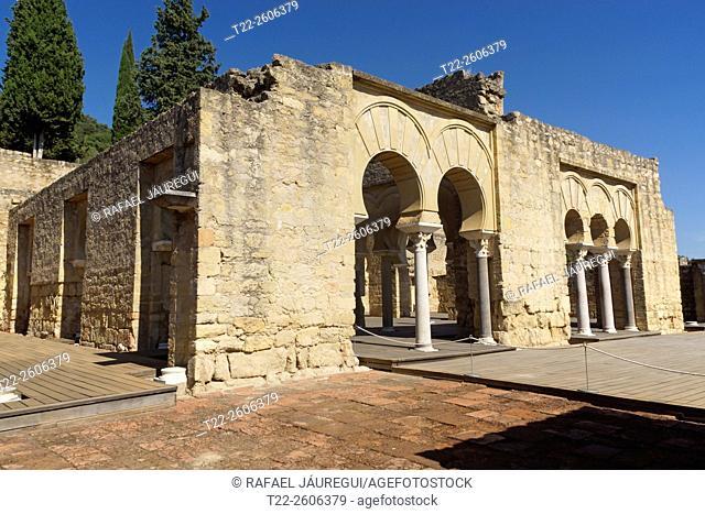 Cordoba (Spain). Superior basilica building Medina Azahara City