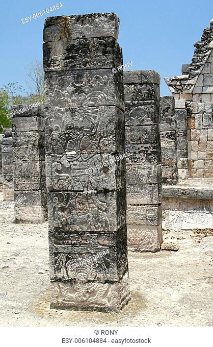 Pillar with engraving, Mexico