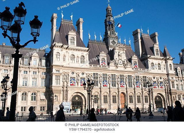 Hôtel de Ville or city hall, Paris