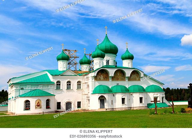 the old church in svirsky monastery,staraya sloboda,st. petersburg,russia
