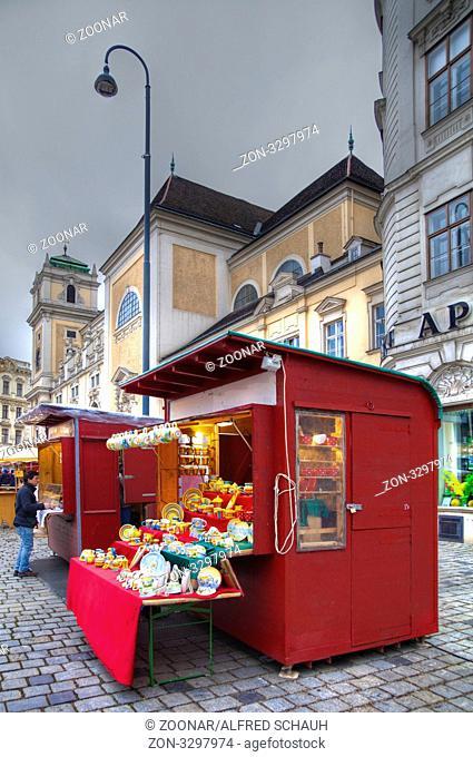 Marktstand auf der Freyung, Wien, Österreich, Europa / market stall on the Freyung, Wien, Austria, Europe