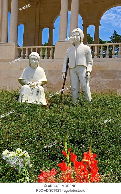 Statues, in front of Sanctuary of Our Lady of Fatima, Fatima, Portugal / Basilica of Our Lady of the Rosary, Santuario de Fatima