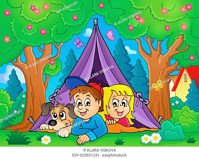 Camping theme image 3 - picture illustration