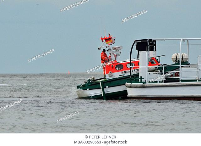 Germany, the North Sea, sea rescue, exercise, rescue lifeboat, Ship's boat, water landing