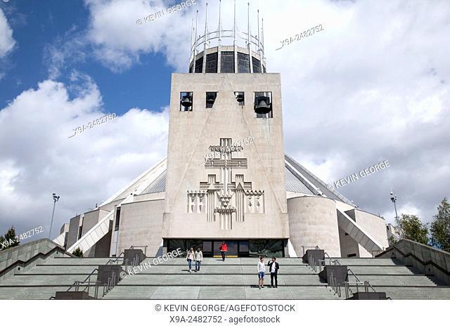 Roman Catholic Metropolitan Cathedral, Liverpool, England, UK