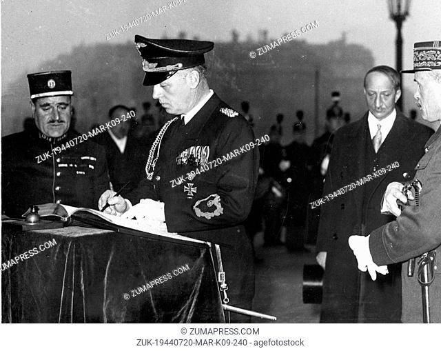 Jul 20, 1944; Munich, GERMANY; Nazi leader JOACHIM VON RIBBENTROP. (Credit Image: © Keystone Press Agency/Keystone USA via ZUMAPRESS.com)