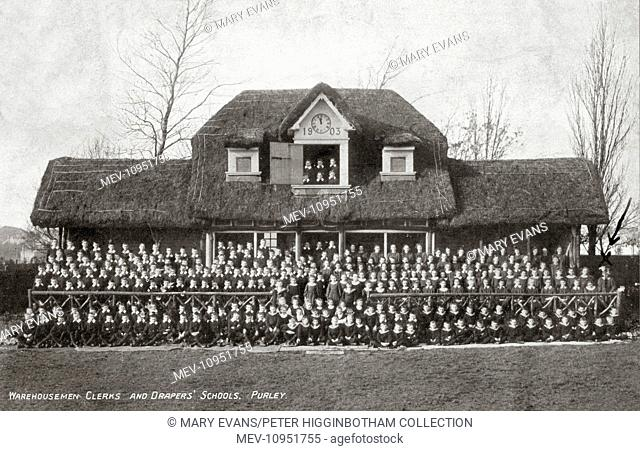 A photograph of all the children at Warehousemen, Clerks and Drapers' Schools, Purley, Surrey