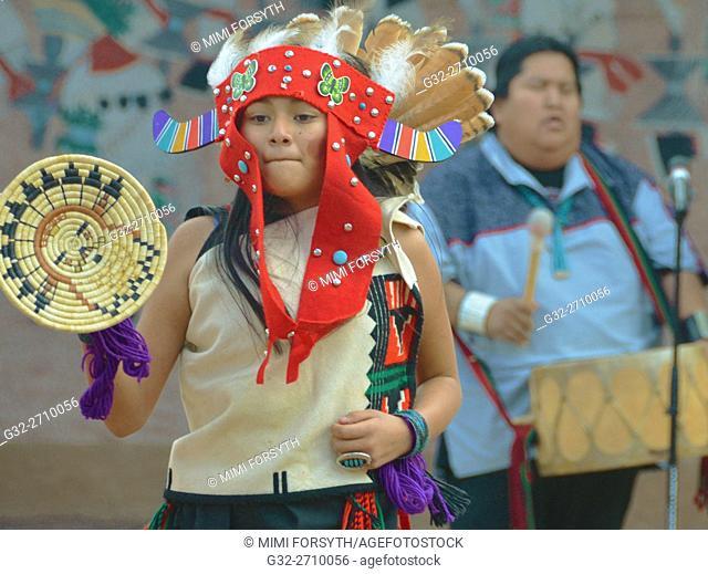 Amerind dancer from Acoma pueblo, New Mexico, USA