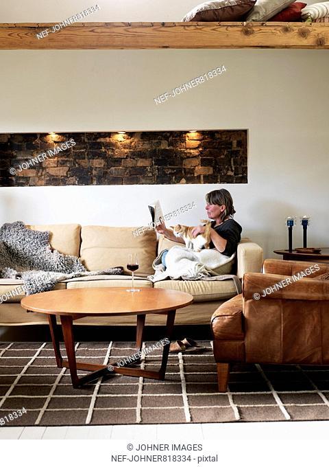 A living-room, Sweden