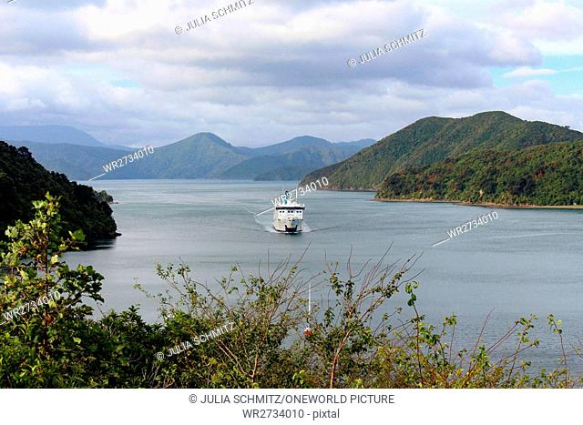 New Zealand, South Island, Marlborough, Picton, Picton, Ferry to the North Island