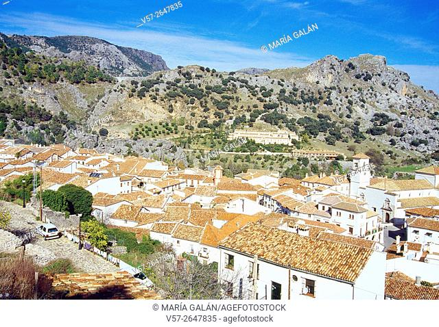 Overview and mountains. Grazalema, Cadiz province, Andalucia, Spain