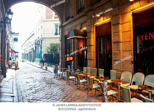 Terrace. Restaurant. Saint Michel square. Latin Quarter. Paris. France. Europe