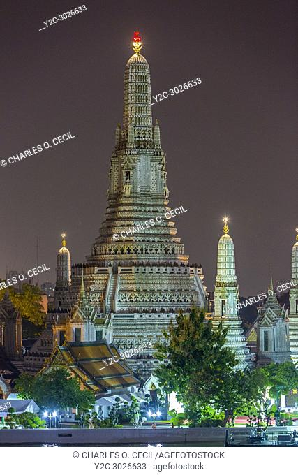 Bangkok, Thailand. Wat Arun Temple at Night