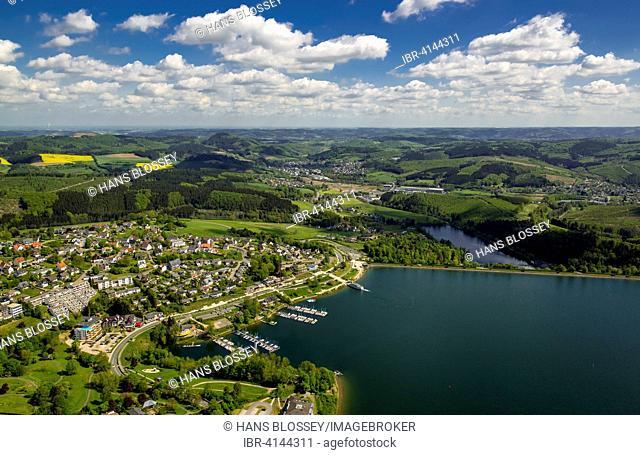 Sorpe Dam, Langscheid, Sundern, Sauerland, North Rhine-Westphalia, Germany