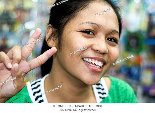 Shop assistant, Iloilo, Panay, Philippines
