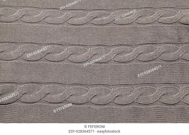 Image of gray knitted fabric background