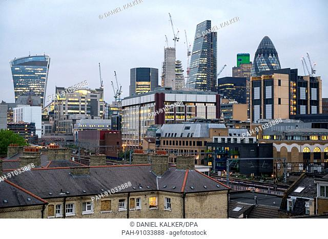 England: Skyline view of the City of London. Photo from 05. May 2017. | usage worldwide. - London/England/United Kingdom of Great Britain and Northern Ireland