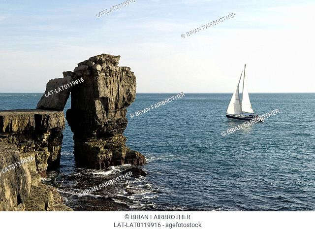 The Isle of Portland is a limestone tied island in the English Channel. Portland forms the southernmost point of the county of Dorset