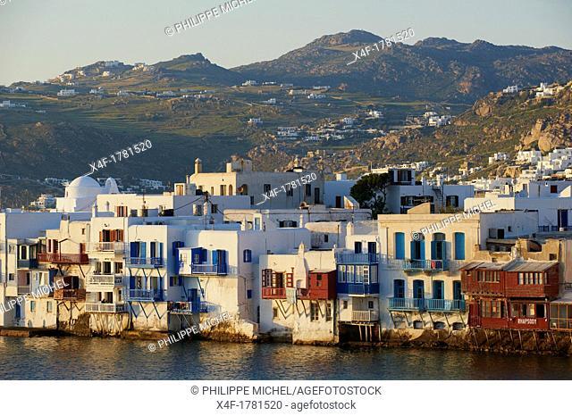 Greece, Cyclades, Mykonos island, Chora, Mykonos town, Little Venice