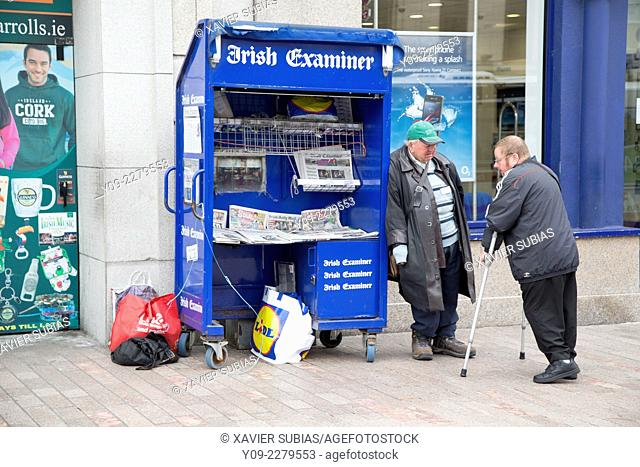 Seller press, Saint Patrick Street, Cork, Munster Province, Ireland