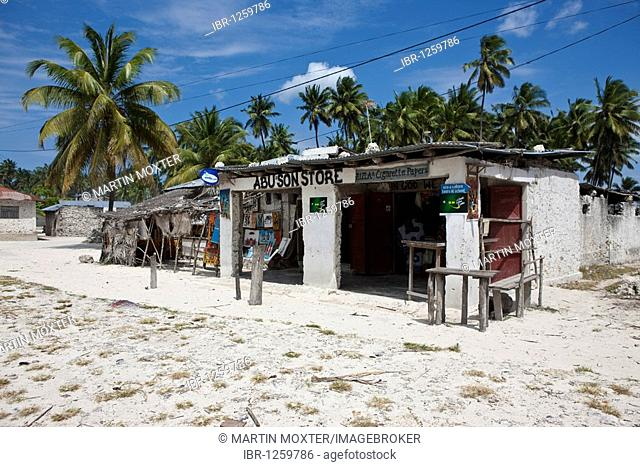 Store in the village of Jambiani, Zanzibar, Tanzania, Africa