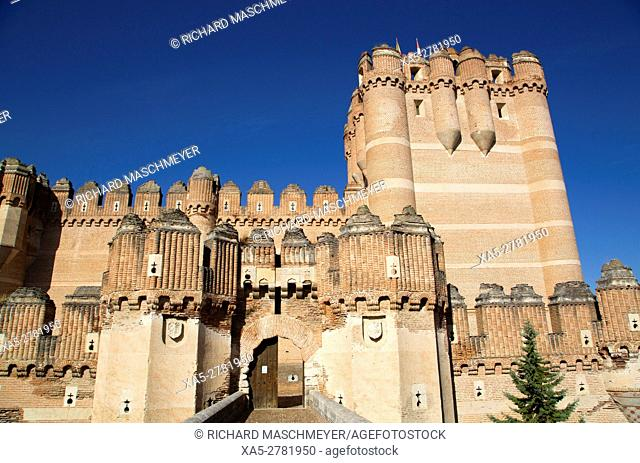 Castle of Coca, built 15th Century, Coca, Segovia, Spain