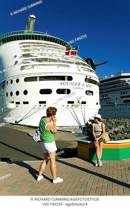 Cruise Ships at Prince George Wharf, Nassau, New Providence Island, Bahamas