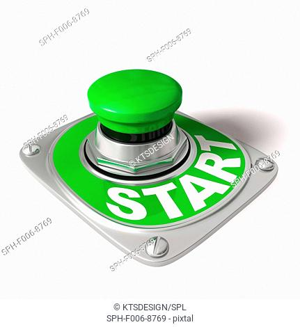 Start button, computer artwork