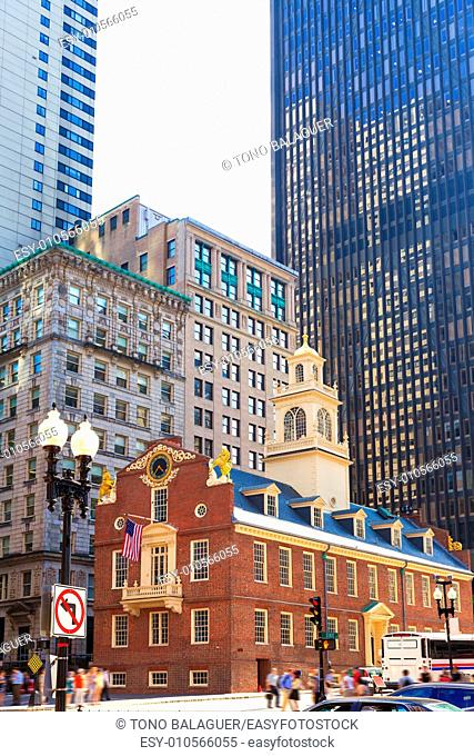Boston Old State House buiding in Massachusetts