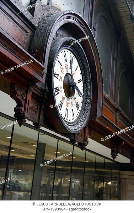 Clock on North Station, PARIS, FRANCE