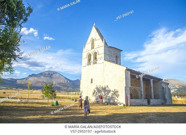 Romanesque church. Pison de Castrejon, Palencia province, Castilla Leon, Spain