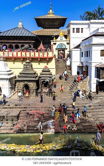 Pashupatinath temple and Basmati river, Kathmandu Valley, Nepal