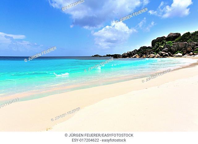Beach Grand' Anse on La Digue, Seychelles