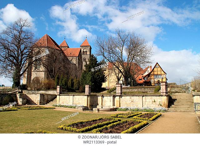 The castle hill in Quedlinburg