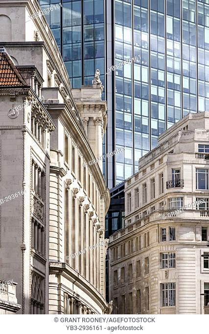 Buildings In The City of London, London, UK