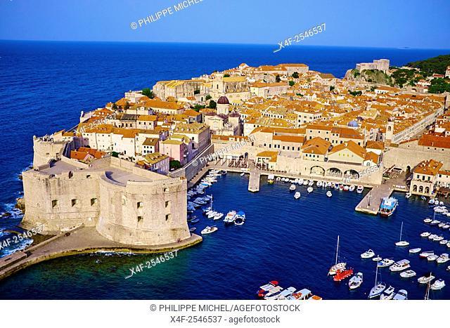 Croatia, Dalmatia, Dubrovnik, historical centre, Unesco World Heritage site, old town and harbour