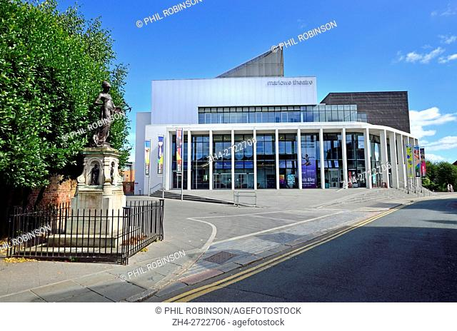 Canterbury, Kent, UK. Marlow Theatre (1984; rebuilt 2011) in The Friars