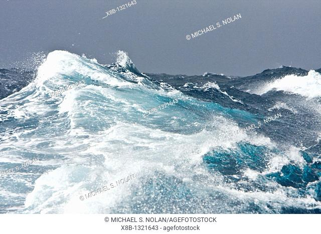 The Drake Passage from aboard the National Geographic Endeavour  The Drake passage crosses the roaring forties and furious fifties degrees of lattitude  This is...